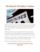 Tài liệu Du thuyền Paradise Cruises pdf