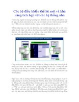 Tài liệu Các bộ điều khiển thế hệ mới và khả năng tích hợp với các hệ thống nhỏ doc