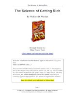 Tài liệu The Science of Getting Rich - By Wallace D.Wattles docx