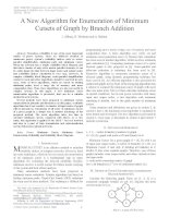 A new algorithm for enumeration of minimum cutsets of graph by branch addition