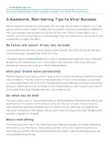 5 awesome nonboring tips to viral success