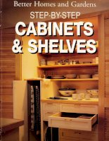 Step by step cabinets and shelves