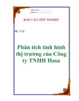 """Tài liệu Luận văn: """"Phân tích tình hình thị trường của Công ty TNHH Hasa"""" pptx"""
