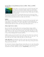 Tài liệu Group Policy trong Windows Server 2008 - Phần 2: GPMC Version 2 pptx