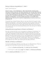 Tài liệu Backup và Restore trong Windows 7 – Phần 1 pdf
