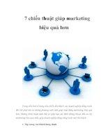 Tài liệu 7 chiến thuật giúp marketing hiệu quả hơn pdf
