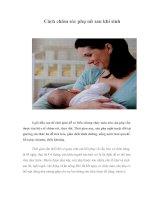 Tài liệu Cách chăm sóc phụ nữ sau khi sinh pdf