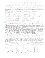 Tài liệu Đề thi thử ĐH - CĐ lần 2 năm 2010_THPT Diễn Châu 5 pptx