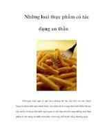 Tài liệu Những loai thực phẩm có tác dụng an thần ppt