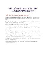 Tài liệu thủ thuật dành cho Microsoft Word 2010 part 3 docx
