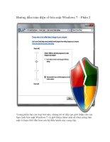 Tài liệu Hướng dẫn toàn diện về bảo mật Windows 7 – Phần 2 pptx