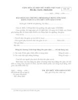 Tài liệu BM.TG.05 - Bản đăng ký chương trình hoạt động tôn giáo hàng năm của tổ chức tôn giáo cơ sở doc