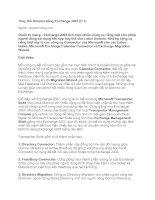 Tài liệu Thay thế Domino bằng Exchange 2007 (P.1) pdf