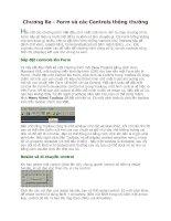 Tài liệu Visual Basic 6- Chương 3- Form và Control thông thường docx