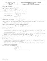 Tài liệu Đề và đáp án luyện thi đại học 2010 khối A-B-C-D đề 9 doc