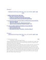 Tài liệu CHÍNH SÁCH NGOẠI THƯƠNG CỦA CÁC NƯỚC TRÊN THẾ GIỚI pdf