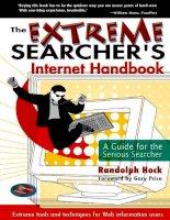 Tài liệu The Extreme Searcher`s Internet Hanbook P1 docx