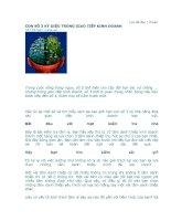 Tài liệu CON SỐ 3 KỲ DIỆU TRONG GIAO TIẾP KINH DOANH pptx