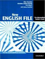 Tài liệu New english file pre-intermediate teacher''''s book part 1 pdf