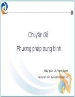 Tài liệu Chuyên đề phương pháp trung bình pptx
