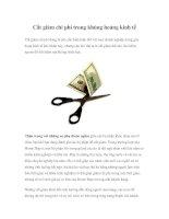 Tài liệu Cắt giảm chi phí trong khủng hoảng kinh tế ppt