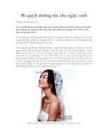 Tài liệu Bí quyết dưỡng tóc cho ngày cưới ppt