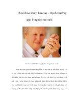 Tài liệu Thoái hóa khớp bàn tay - Bệnh thường gặp ở người cao tuổi docx