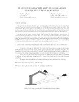 Tài liệu Một số phương pháp điều khiển hệ Camera Robot doc