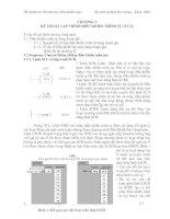 Tài liệu CHƯƠNG 5: KỸ THUẬT LẬP TRÌNH ĐIỀU KHIỂN TRÌNH TỰ (5 LT) pptx