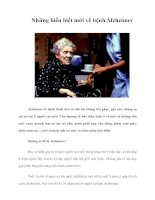 Tài liệu Những hiểu biết mới về bệnh Alzheimer ppt