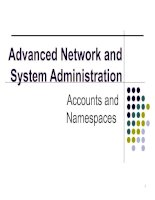 Tài liệu Advanced Network and System Administration ppt