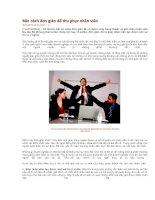 Tài liệu Bốn cách đơn giản để thu phục nhân viên docx
