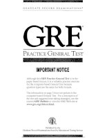 Tài liệu GRE Practice General Test ppt