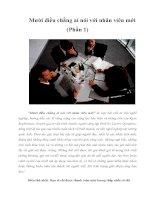 Tài liệu Mười điều chẳng ai nói với nhân viên mới (Phần 1) pptx