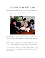 Tài liệu Bí quyết lựa chọn nhà tư vấn tài chính docx