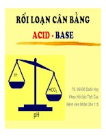Tài liệu Giáo trình Rối loạn cân bằng Acid Base docx