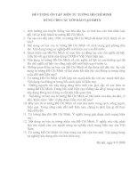 Tài liệu ĐỀ CƯƠNG ÔN TẬP MÔN TƯ TƯỞNG HỒ CHÍ MINH DÙNG CHO CÁC LỚP ĐÀO TẠO ĐHTX docx