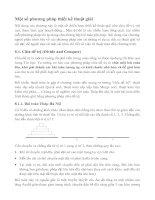 Tài liệu Một số phương pháp thiết kế thuật giải pdf
