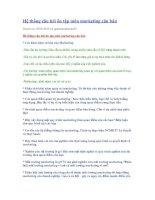 Tài liệu Hệ thống câu hỏi ôn tập môn marketing căn bản doc