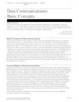 Tài liệu Data Communication Basic Concepts doc