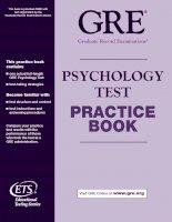 Tài liệu GRE Psychology Test doc