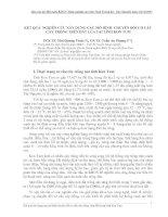 Tài liệu KẾT QUẢ NGHIÊN CỨU XÂY DỰNG CÁC MÔ HÌNH CHUYỂN ĐỔI CƠ CẤU CÂY TRỒNG TRÊN ĐẤT LÚA TẠI TỈNH KON TUM pptx