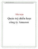 Tiểu luận Quản trị chiến lược công ty Amazon