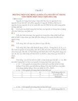 Tài liệu Chủ đề 2: PHƯƠNG PHÁP XÁC ĐỊNH LAI HÓA CỦA NGUYÊN TỬ TRUNG TÂM TRONG HỢP CHẤT CỘNG HÓA TRỊ ppt