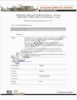 Tài liệu EVERYDAY ENGLISH FROM AUSTRALIA – Series 2.10 pptx