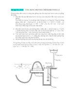 Tài liệu Bài tập lớn số 02: ỨNG DỤNG PHƯƠNG TRÌNH BECNOULLI pptx