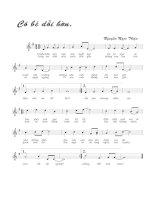Tài liệu Bài hát cô bé dỗi hờn - Nguyễn Ngọc Thiện (lời bài hát có nốt) pdf