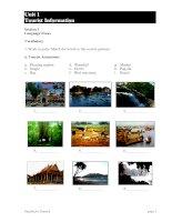 Tài liệu Unit 1: Tourist Information ppt