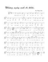 Tài liệu Bài hát những ngày anh đi khỏi - Vũ Thành An (lời bài hát có nốt) pdf