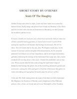 Tài liệu LUYỆN ĐỌC TIẾNG ANH QUA TÁC PHẨM VĂN HỌC-SHORT STORY BY O'HENRY Seats Of The Haughty ppt